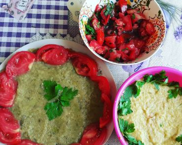 Eggplant Salad Recipe – With and Without a Mayo