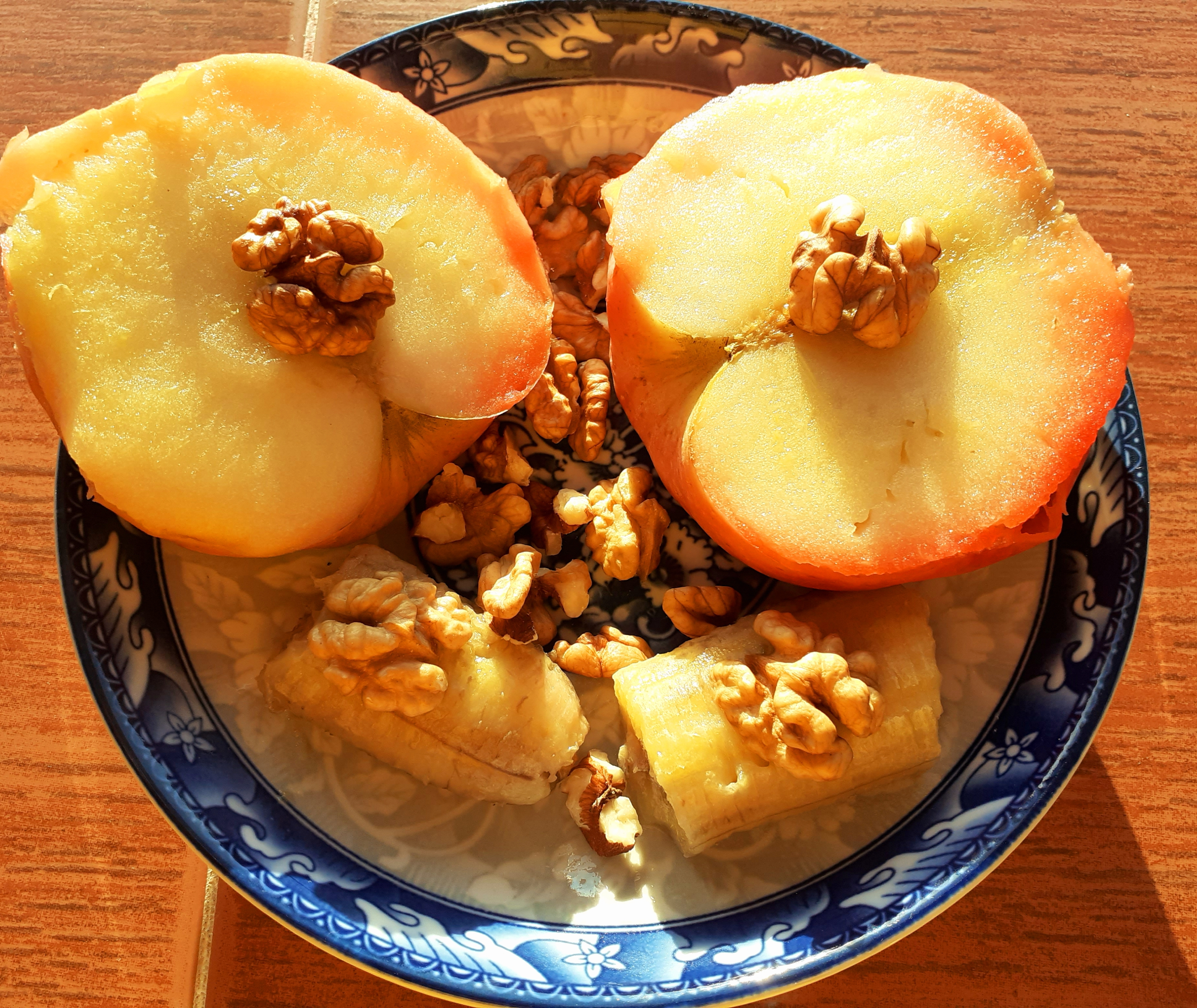 Baked Apple with Banana and Nuts