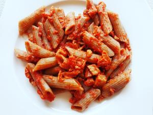 Buckwheat Pasta with Tuna and Tomato Sauce