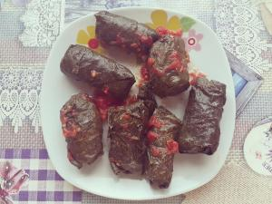 Cabbage Rolls in Vine Leaves