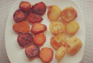 Sweet Potatoes and White Potatoes Fries