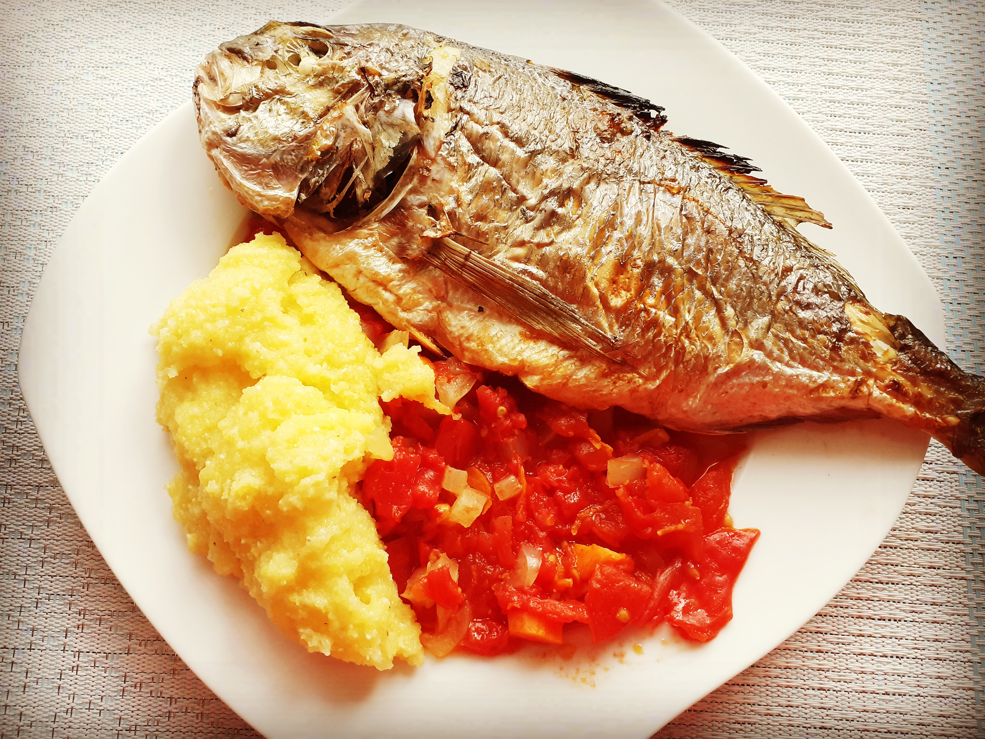 Grilled Sea Bream with Vegetables Recipe